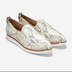 Cole Haan grand ambition leather python slip on